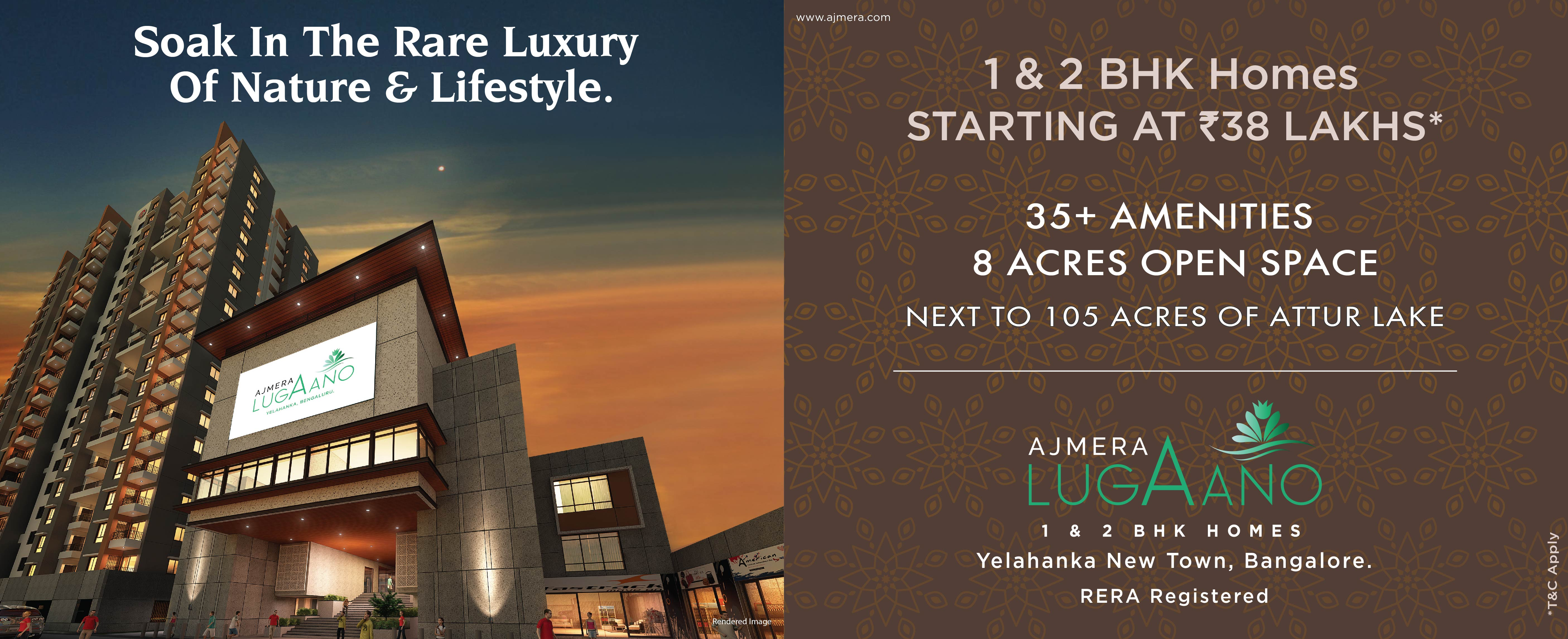 Ajmera Lugaano -Affordable 1&2 BHK in Yelahanka