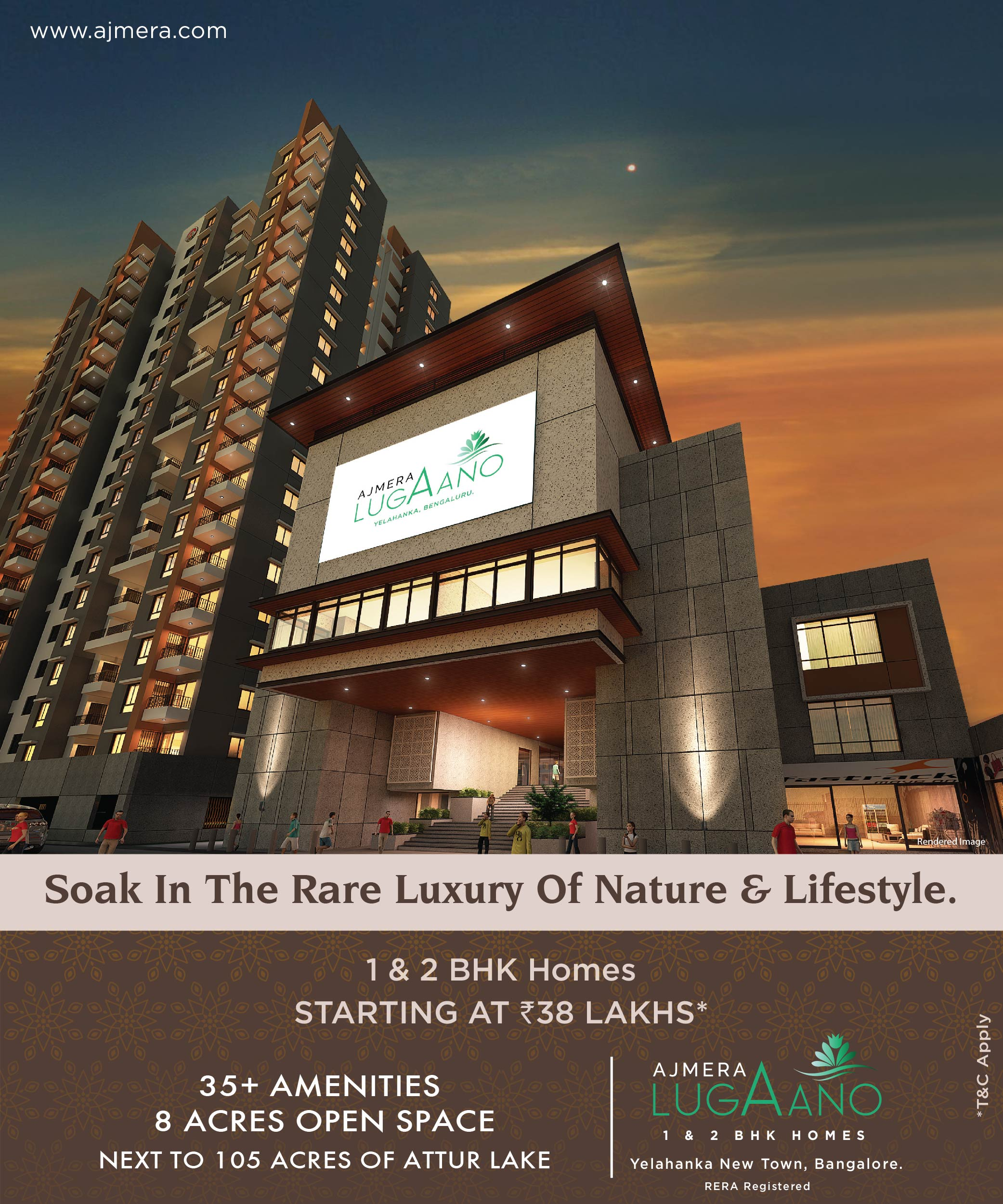 Ajmera Lugaano -Affordable 1&2 BHK in Yelahanka - 2